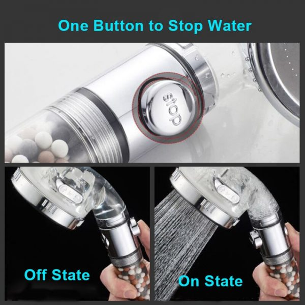 Appareil fixé à l'extrémité d'un flexible d'alimentation en eau, percé de petits trous, qui distribue l'eau en pluie pour se doucher