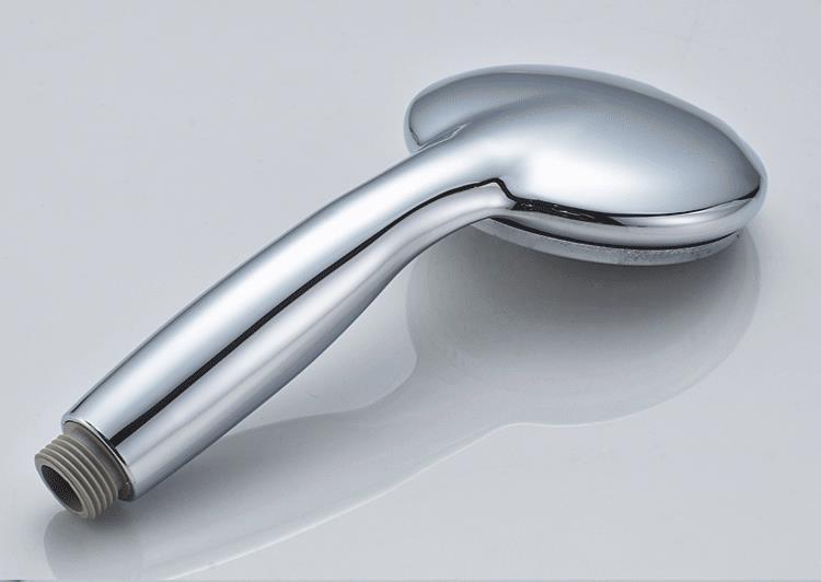 Pommeau de douche en plastique ABS, grand panneau rond chromé, économie d'eau, conception classique G1/2, SP045