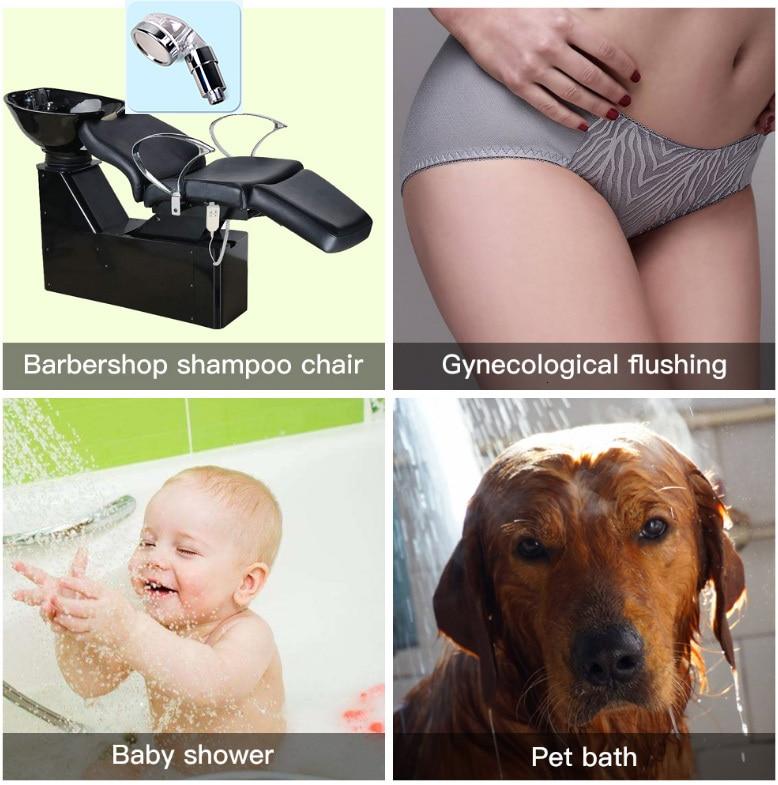 Adaptateur de shampooing portable SPA, pomme de douche haute pression, bain à économie d'eau avec filtre à anions