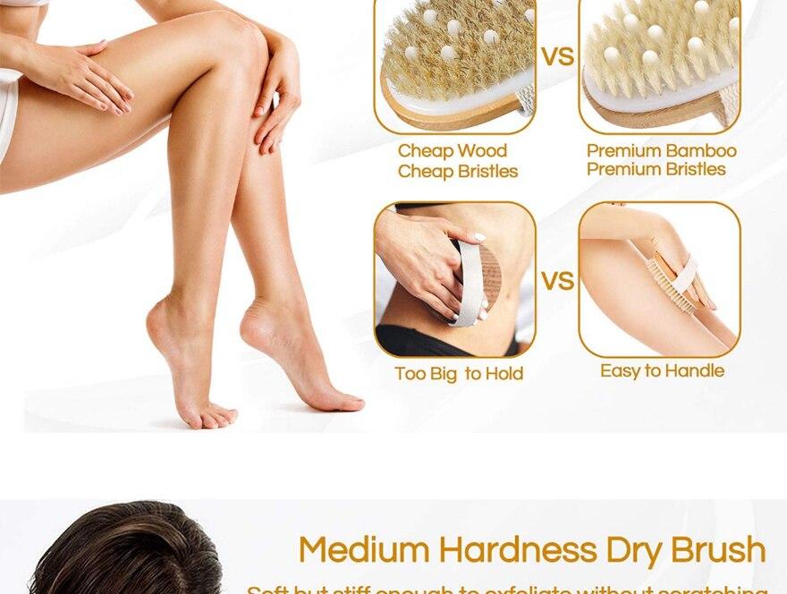 Brosse pour le corps à peau sèche, une brosse de bain exfoliante.