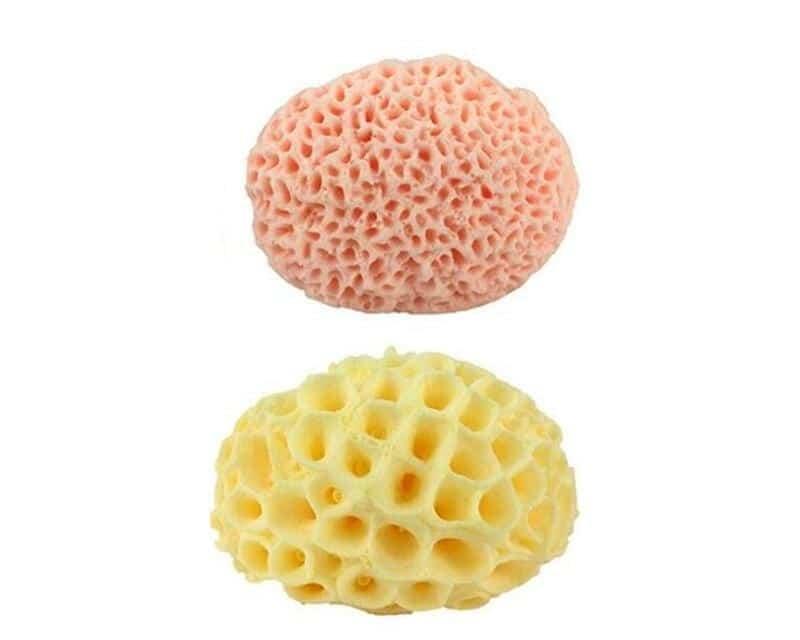 Éponge en laine de mer naturelle, remplacement de la peau morte, exfoliante, masseur, mousse de douche, lavage du visage